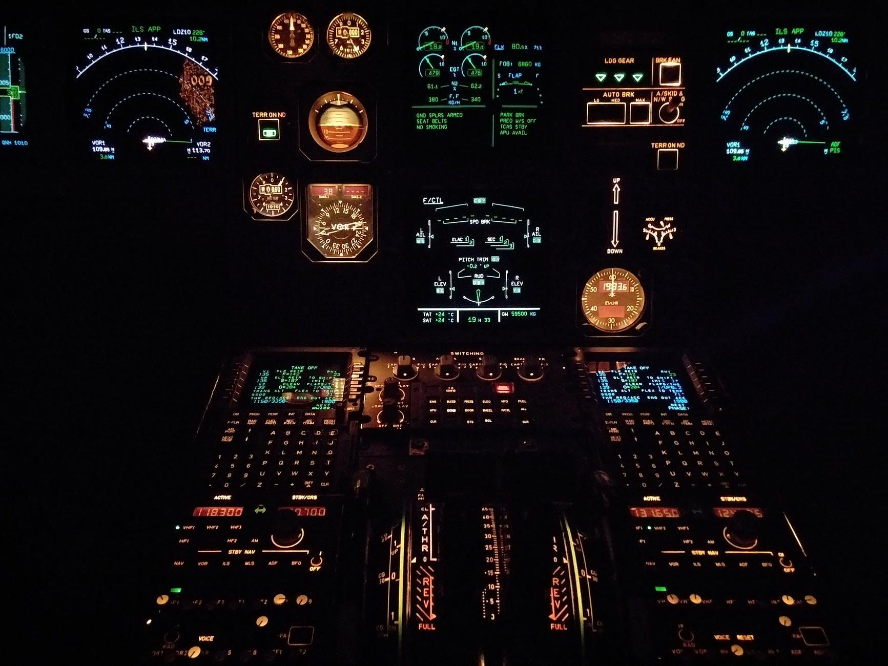 black multicolored control panel lot